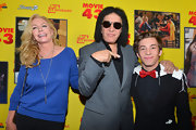 Shannon Tweed attended the LA premiere of 'Movie 43' wearing a blue boatneck sweater and a pair of jeans.