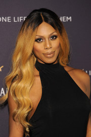 Laverne Cox showed off gorgeous flowing waves at the One Life/Live Them event.