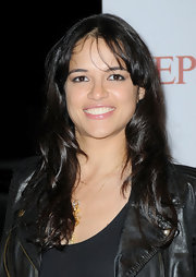 Michelle Rodriguez added some sheen to her beauty look with a layer of lip gloss when she attended the Replay party in Cannes.