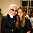 Gaia Repossi and Karl Lagerfeld