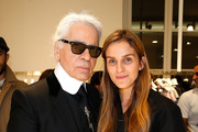 Gaia Repossi and Karl Lagerfeld Photo