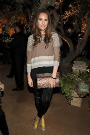 Louise Roe carried this envelope snakeskin clutch to the Restoration Hardware Spring 2012 launch in LA.