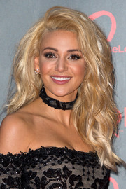 Michelle Keegan looked like a doll with her big blonde hair at the Revlon Choose Love Masquerade Ball.
