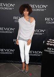 Halle infused a little yacht style into her look at the Revlon launch.