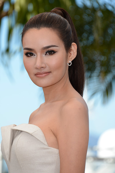 Rhatha Phongam Ponytail [photocall - the 66th annual cannes film festival,only god forgives,hair,face,hairstyle,skin,eyebrow,beauty,lip,chin,shoulder,lady,rhatha phongam,cannes,france,cannes film festival]