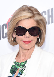 Christine Baranski stuck to her customary bob when she attended the New York premiere of 'Ricki and the Flash.'