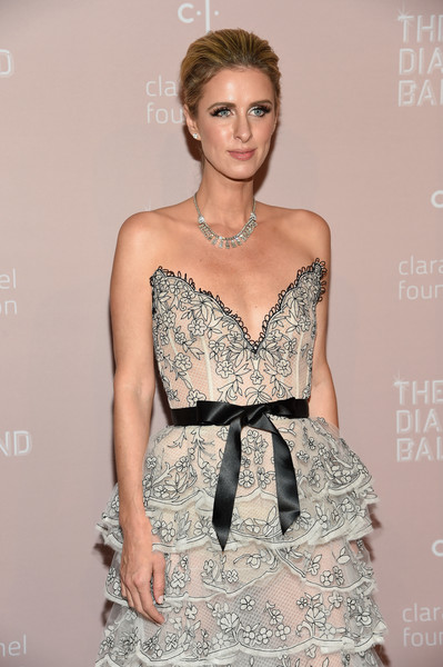 More Pics of Nicky Hilton Rothschild Strapless Dress (1 of 9) - Nicky Hilton Rothschild Lookbook - StyleBistro [clothing,dress,cocktail dress,shoulder,fashion model,fashion,hairstyle,beauty,strapless dress,lady,rihanna,nicky hilton rothschild,new york city,cipriani wall street,the clara lionel foundation,diamond ball benefitting the clara lionel foundation - arrivals]