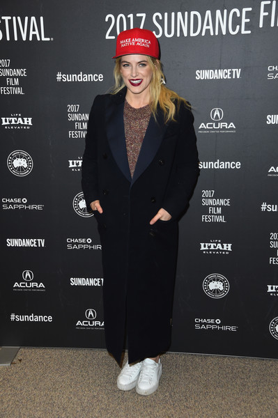 Riley Keough Leather Sneakers [the discovery premiere,clothing,fashion,outerwear,beanie,headgear,suit,premiere,cap,pantsuit,event,riley keough,utah,park city,eccles center theatre,sundance film festival,premiere]