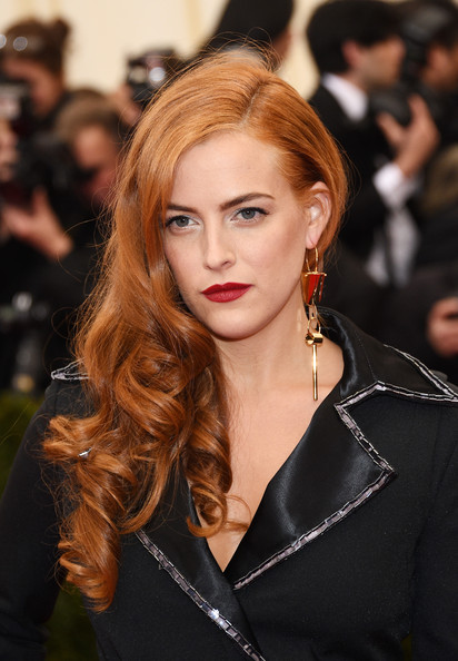 Riley Keough Gold Dangle Earrings
