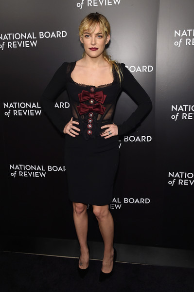 Riley Keough Corset Dress [clothing,dress,cocktail dress,little black dress,fashion,shoulder,premiere,carpet,fashion model,flooring,new york city,cipriani 42nd street,national board of review gala,national board of review gala,riley keough]