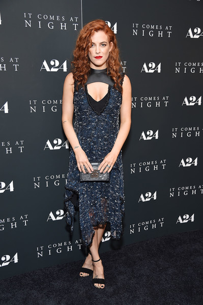 Riley Keough Strappy Sandals [it comes at night,clothing,dress,fashion,fashion model,premiere,footwear,cocktail dress,carpet,flooring,shoe,riley keough,new york,the metrograph,premiere]