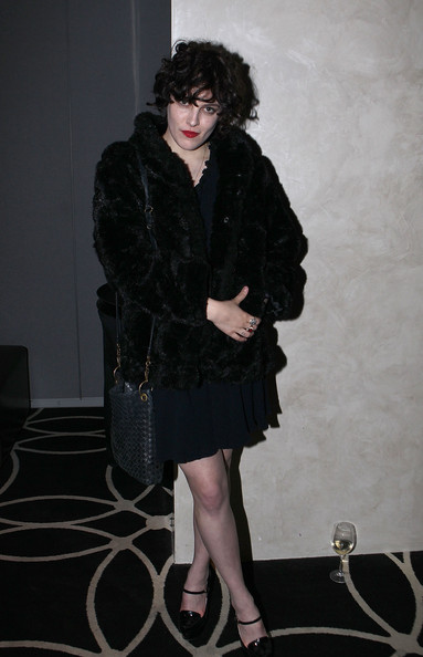 Riley Keough Leather Shoulder Bag [clothing,fur,black,fashion,little black dress,dress,leg,fur clothing,outerwear,textile,riley keough,kick-off party,w hollywood,hollywood,california,party,2011 tribeca film festival,kick-off]