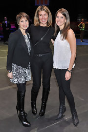 Nina Garcia sported a simple all-black sweater, pants, and knee-high boots ensemble at the 'Built to Amaze!' show.
