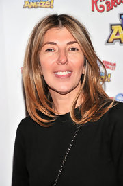 Nina Garcia wore a dressed-down look with this center-parted bob at the 'Built to Amaze!' show.