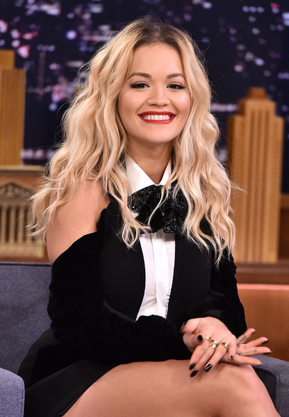 Rita Ora Long Wavy Cut