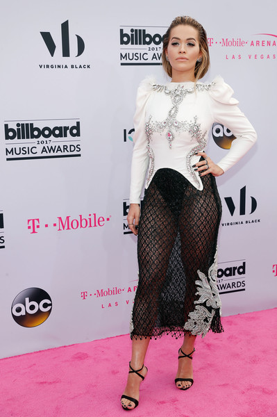 Rita Ora Embellished Top [flooring,fashion model,shoulder,fashion,carpet,leg,joint,red carpet,shoe,leggings,virginia black,rita ora,billboard music awards,las vegas,nevada,t-mobile arena,virginia black - red carpet]