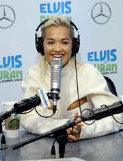 Rita Ora's multicolored mani looked so fun when she visited 'The Elvis Duran Z100 Morning Show.'