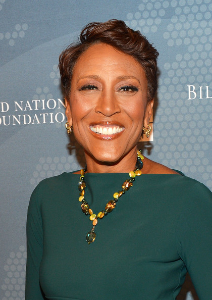 Robin Roberts Fauxhawk [hair,face,hairstyle,chin,smile,fashion accessory,jewellery,black hair,lace wig,robin roberts,92y,social good summit,new york city]