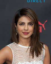 Priyanka Chopra looked very trendy with her asymmetrical cut at the Roc Nation pre-Grammy brunch.