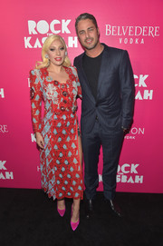 Lady Gaga donned a color-block macramé lace skirt suit by Marc Jacobs for the New York premiere of 'Rock the Kasbah.'