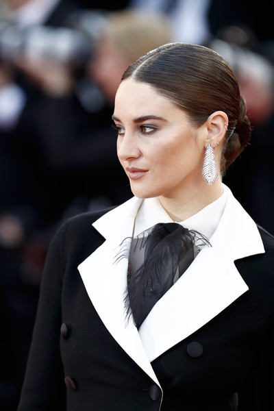 Shailene Woodley pulled her hair back into a twisted bun for the 2019 Cannes Film Festival screening of 'Rocketman.'