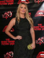Kitty Spencer's yellow snakeskin print clutch added a bright spot to her black outfit at the 40th anniversary screening of 'The Rocky Horror Picture Show.'
