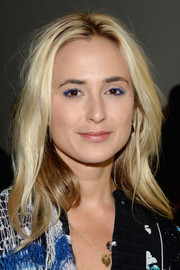 Elisabeth von Thurn und Taxis sported a mid-length layered cut at the Rodarte Spring 2016 show.