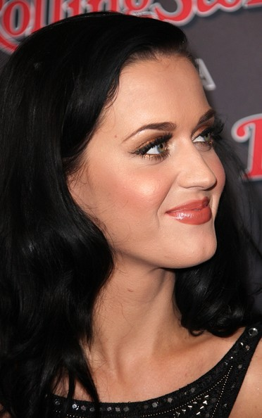 More Pics of Katy Perry Long Curls (1 of 7) - Katy Perry Lookbook - StyleBistro [hair,face,eyebrow,hairstyle,lip,chin,black hair,forehead,nose,beauty,arrivals,katy perry,vip,california,los angeles,rolling stone,ama,party]