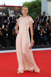 Naomi Watts looked darling in a crystal-adorned blush gown by Prada at the Venice Film Festival screening of 'Roma.'