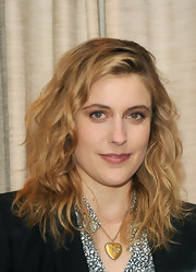 Greta Gerwig sported rocker-chic waves at the press conference for 'To Rome with Love.'
