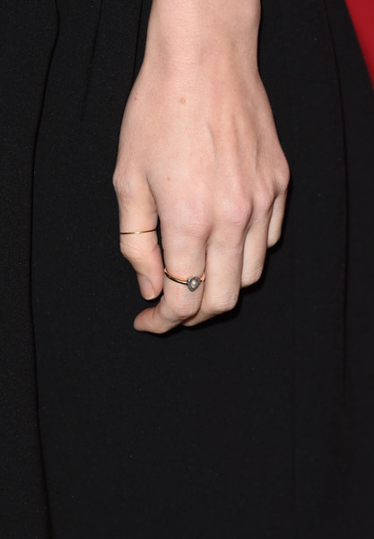 Rooney Mara Pearl Ring [finger,hand,ring,nail,gesture,interaction,jewellery,muscle,engagement ring,fashion accessory,arrivals,rooney mara,ring detail,beverly hills,four seasons hotel,los angeles,california,afi awards]