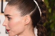 Rooney Mara Long Braided Hairstyle