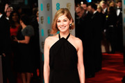 Rosamund Pike Halter Dress