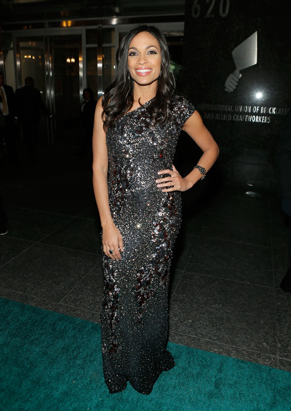 Rosario Dawson Beaded Dress
