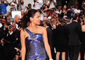 Rosario Dawson Shimmers in Roberto Cavalli at the Cannes Film Festival