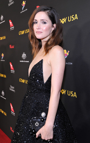 Rose Byrne Satin Clutch [rose byrne,clothing,premiere,dress,hairstyle,carpet,red carpet,lip,little black dress,cocktail dress,long hair,usa,los angeles,california,intercontinental los angeles downtown,black tie gala,2018 gday usa black tie gala]