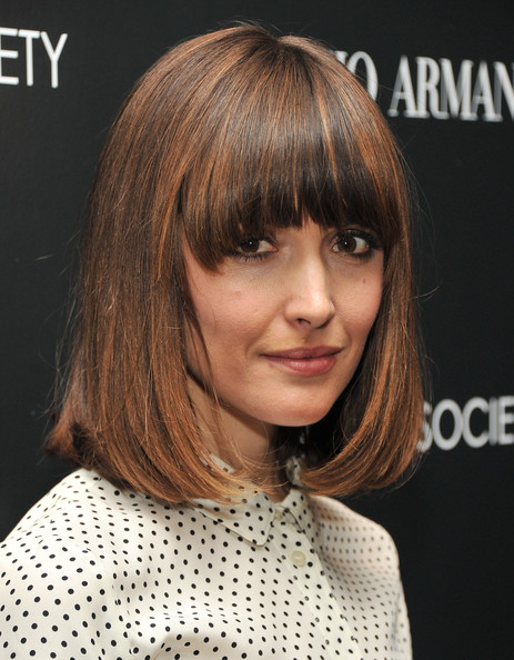 Rose Byrne Medium Straight Cut with Bangs