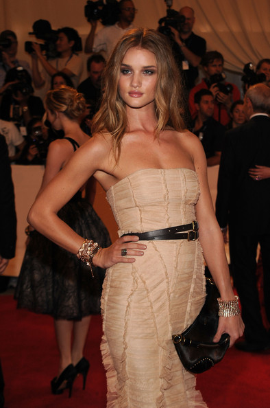 Rosie Huntington-Whiteley Leather Belt [american woman: fashioning a national identity,fashion model,fashion,clothing,dress,haute couture,carpet,event,red carpet,blond,flooring,rosie huntington-whiteley,arrivals,costume institute gala benefit,metropolitan museum of art,new york city,met gala,opening,exhibition]