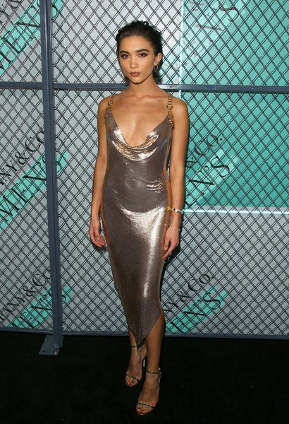 Rowan Blanchard Form-Fitting Dress [clothing,fashion model,cocktail dress,dress,fashion,shoulder,beauty,haute couture,fashion show,model,launch of new tiffany mens collections,new tiffany mens collections,rowan blanchard,california,los angeles,hollywood athletic club,tiffany co,launch]