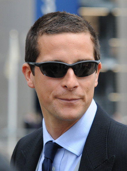More Pics of Bear Grylls Half Jacket Sunglasses (1 of 2) - Bear Grylls Lookbook - StyleBistro [eyewear,hair,sunglasses,white-collar worker,glasses,chin,hairstyle,forehead,suit,businessperson,day one,ascot,england,bear grylls]