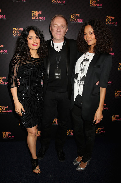 More Pics of Salma Hayek Beaded Dress (3 of 5) - Salma Hayek Lookbook - StyleBistro