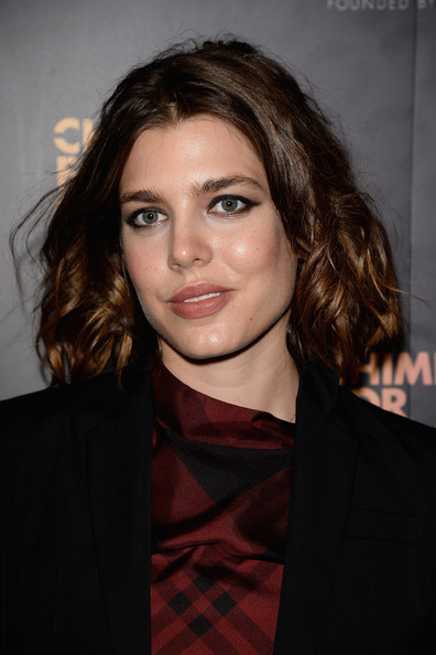 Charlotte Casiraghi chose a soft curly 'do for the 'Chime for Change: The Sound of Change Live' Concert in London.
