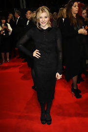 Chloe Moretz got lacy in a sweet LBD for the 'Hugo' premiere in London.