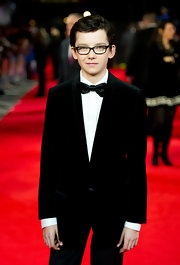 Asa opted for a chic black velvet tux at the Royal Film Performance of 'Hugo.'