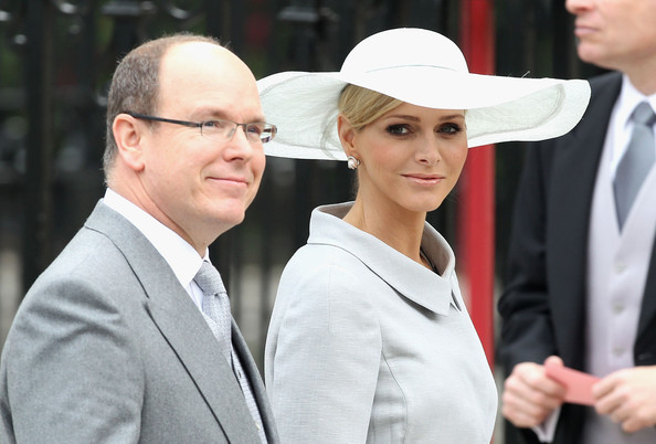 Charlene+Wittstock in Royal Wedding Arrivals