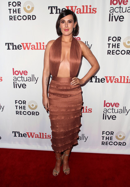 Rumer Willis Halter Dress [love actually live,dress,clothing,cocktail dress,carpet,shoulder,hairstyle,fashion model,premiere,fashion,red carpet,arrivals,rumer willis,wallis annenberg center for the performing arts,beverly hills,california,reception,opening night reception]