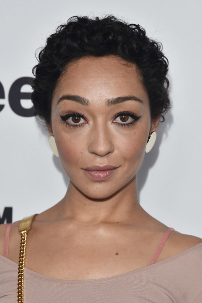 Ruth Negga Cat Eyes [hair,face,eyebrow,hairstyle,lip,chin,forehead,black hair,beauty,skin,arrivals,nominees,ruth negga,west hollywood,california,boa steakhouse,film independent filmmaker grant and spirit award,brunch]