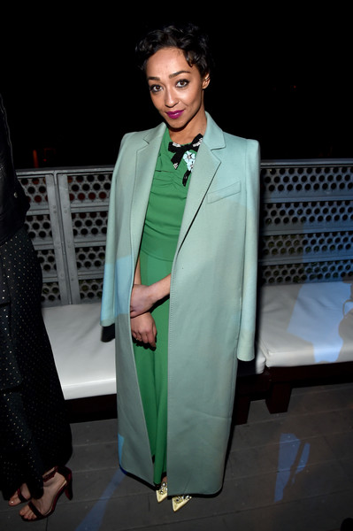 Ruth Negga Wool Coat