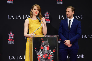 Ryan Gosling Emma Stone Ryan Gosling and Emma Stone Attend a Hand and Footprint Ceremony