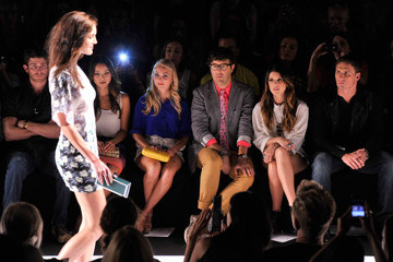 Ryan Lochte Shenae Grimes Rebecca Minkoff - Front Row - Spring 2013 Mercedes-Benz Fashion Week